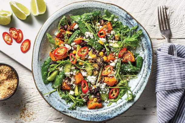 Caribbean Sweet Potato & Black Bean Salad