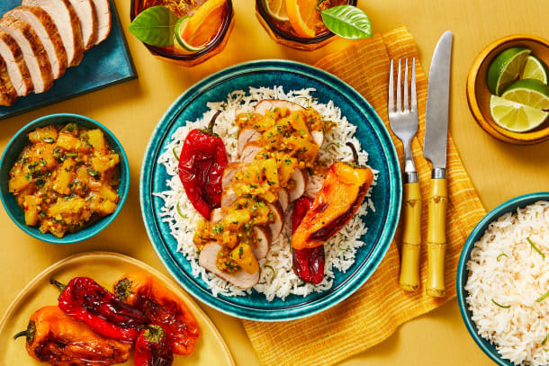 Caribbean Pork with Pineapple Chutney