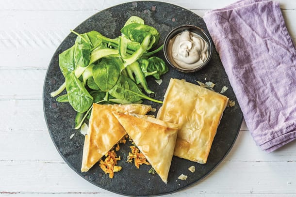 Easy Greek Carrot & Fetta Filo Parcels