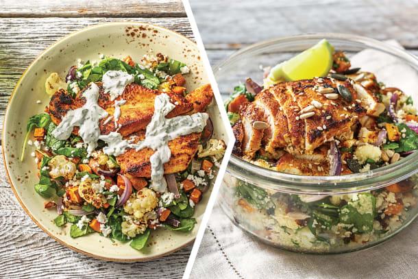 Casablanca Chicken & Roast Veggies for Dinner