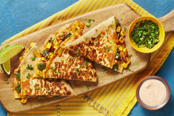 Charred Corn & Poblano Quesadillas