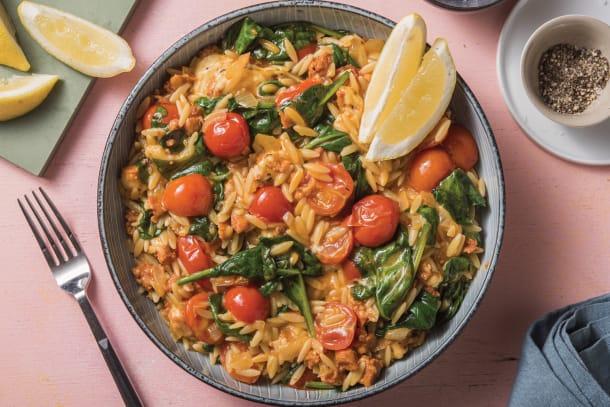 One-Pan Chorizo Risoni Risotto