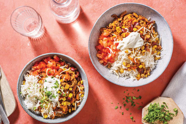 American Beef & Bean Chilli Rice Bowl