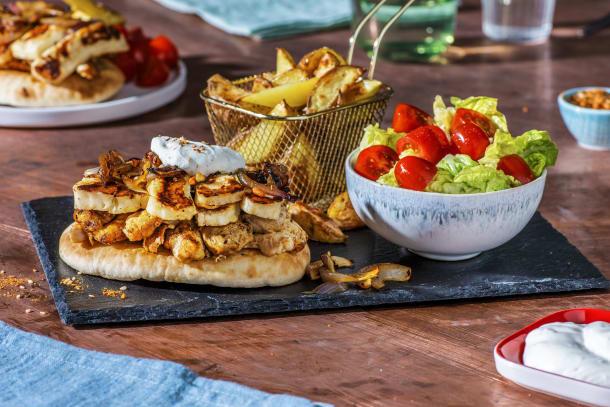 Chicken and Halloumi Shawarma