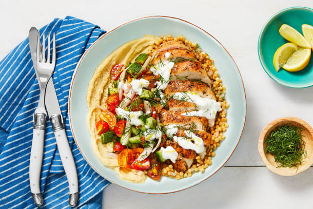 Chicken Gyro Couscous Bowls