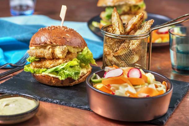 Double Chicken Katsu Burger and Katsu Curry Mayo