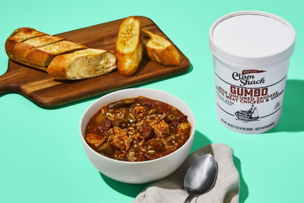 Gumbo & Garlic Bread Combo