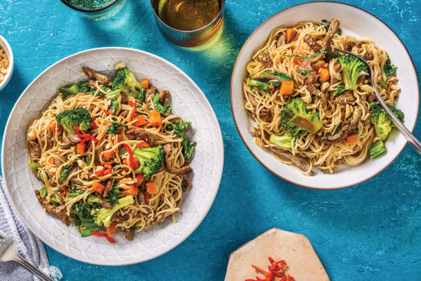 Chinese Beef & Ginger Noodles
