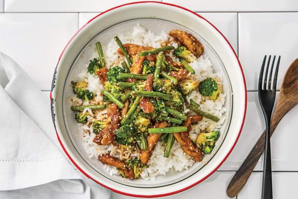 Easy Chinese Chicken & Stir-Fried Sesame Greens