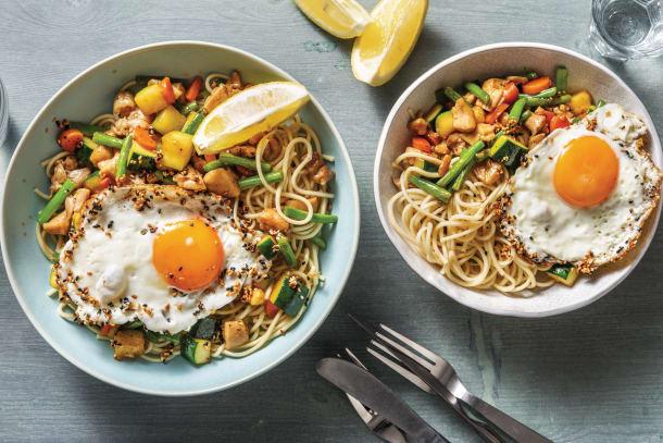 Chinese Chicken & Veggie Noodles