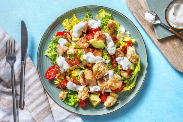 Cobb Salad with Chicken Thigh and Bacon