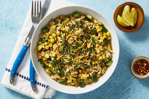 Corn and Zucchini Risotto
