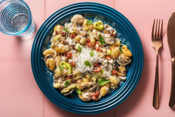 Schnelle Gerichte - Cremige Süßkartoffelgnocchi-Pfanne