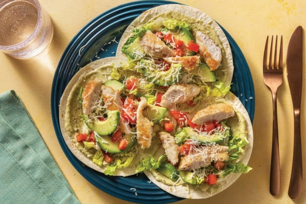 Quick Meals - Crumbed Chicken Tacos with Avocado & Parmesan