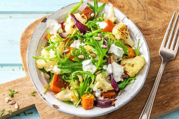 Dukkah Roasted Cauliflower Toss