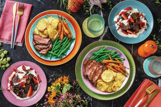 Easter Rosemary & Garlic Lamb with Dauphinoise Potatoes