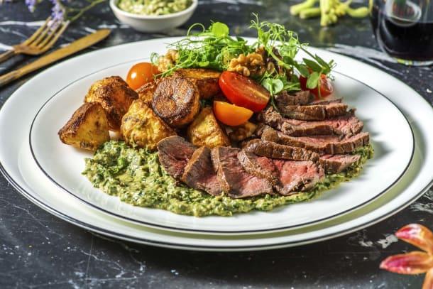 Fillet Steak and Salsa Verde Pesto