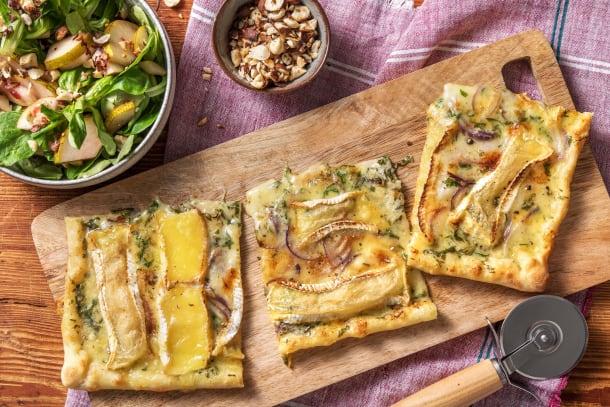 Schnelle Gerichte - Flammkuchen mit Camembert