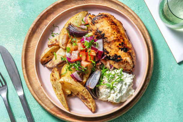 Kalorisnåla måltider - Grekisk-inspirerad kyckling