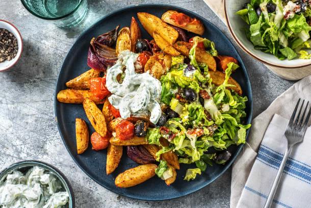 Gesunde Gerichte - Griechische Kartoffelsalat-Bowl