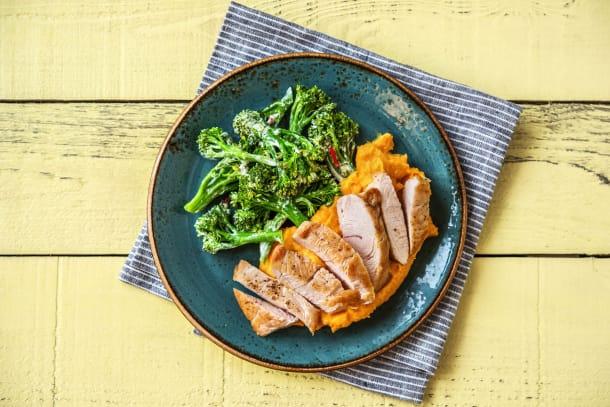 Gesunde Gerichte - Hähnchenbrustfilets mit Brokkolini