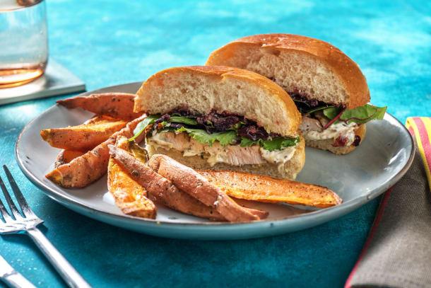 Herby Turkey Sandwich with Cherry Sauce