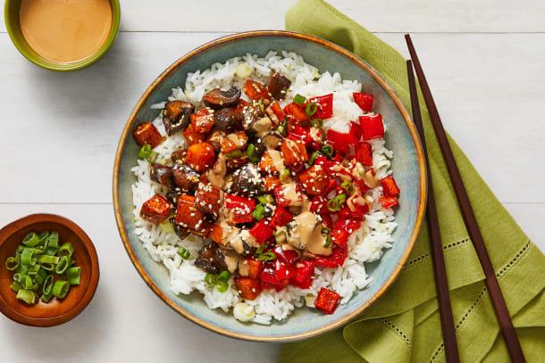 Hoisin-Sesame Roasted Veggie Bowls