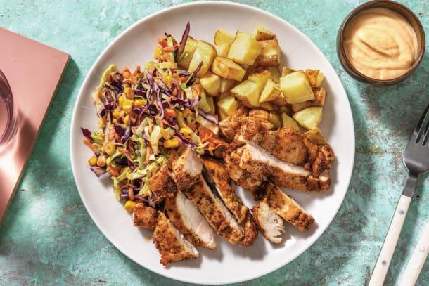 Caribbean-Spiced Chicken & Roast Potato Chunks