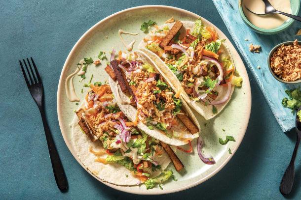 Quick Dinner Ideas - Korean BBQ Tofu Tacos