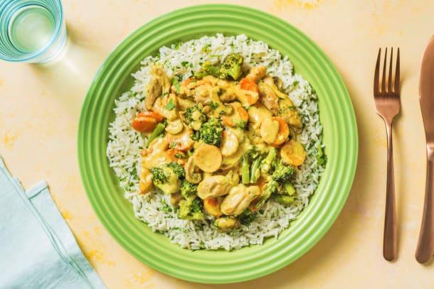 Schnelle Gerichte - Mildes Hähnchencurry mit Gemüsemix
