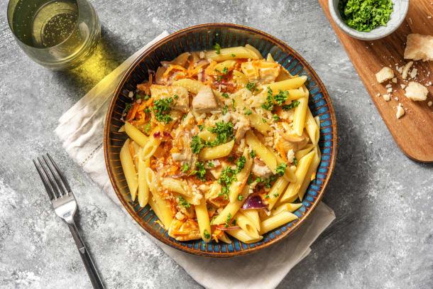 Snabba Middagstips - Krämig senap- och kycklingpasta