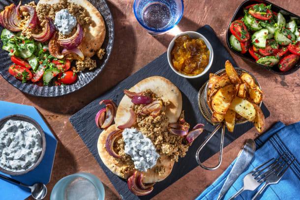 Lamb Korma Naans and Mango Chutney