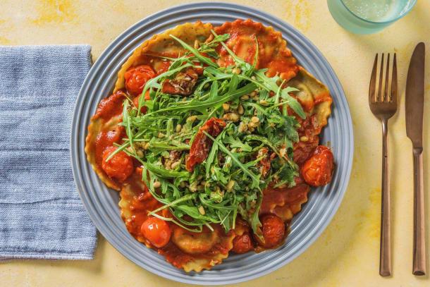 Schnelle Gerichte - Maxi-Tortelli mit frischen Kirschtomaten