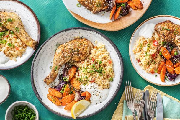 Mediterranean Roasted Chicken Legs