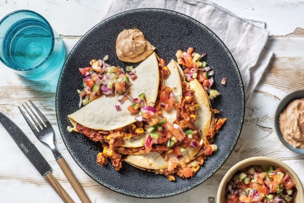 Mexican Cheesy Bean Quesadillas