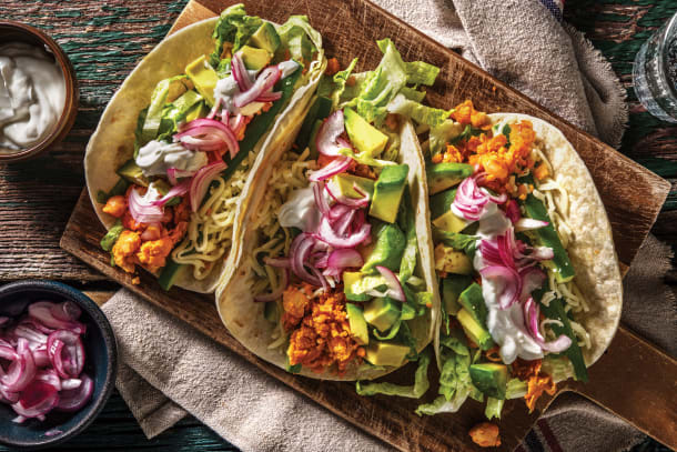 Mexican Smashed Chickpea Tacos