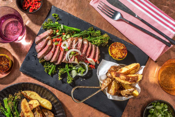 Honey Miso Glazed Sirloin Steak