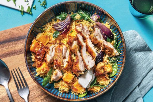 Moroccan Honey Chicken & Veggie Couscous