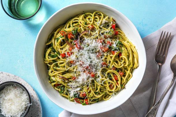 Snabba Middagstips - Pasta med grönkålspesto