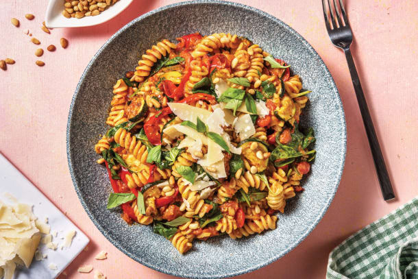 Pesto Roasted Vegetable Fusilli