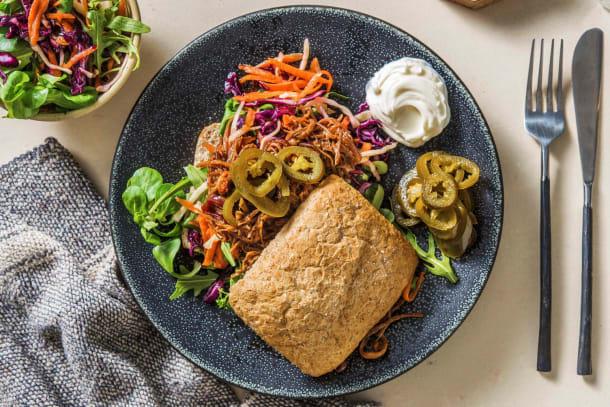 Snelle gerechten - Broodje pulled pork met rode uien