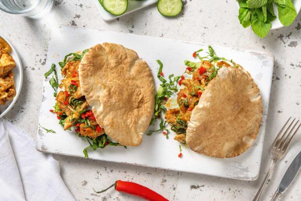 Snelle gerechten - Volkoren pita met kipgyros