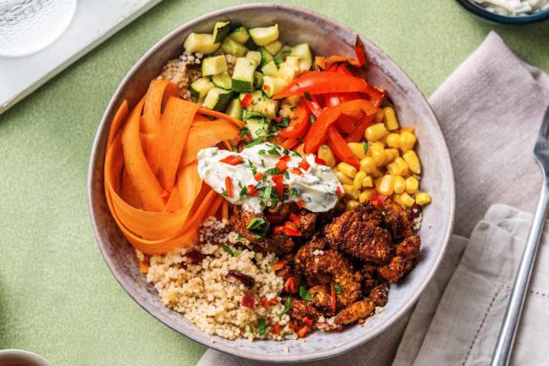Hälsosamma Recept - Poke bowl med BBQ-marinerad kyckling