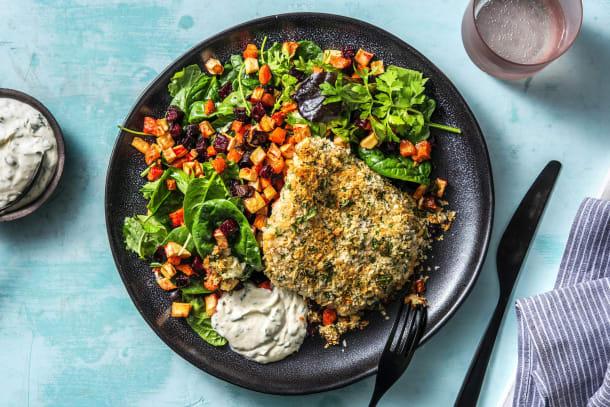 Kalorisnåla måltider - Parmesan- och senapspanerad kycklingfilé
