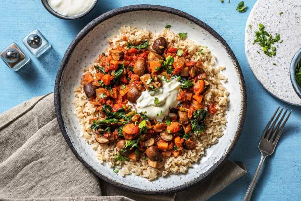 Kalorisnåla måltider - Vegetarisk harissagryta