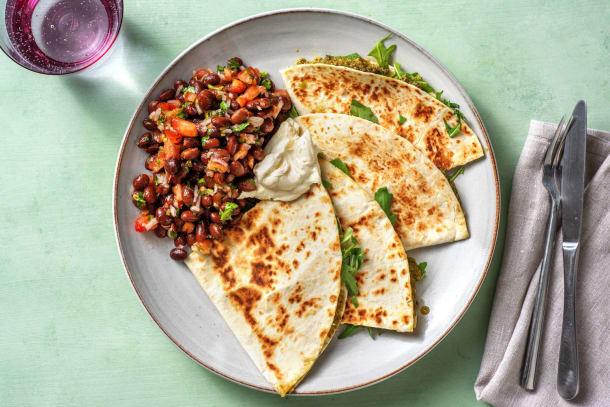 Snabba Middagstips - Quesadillas med pesto