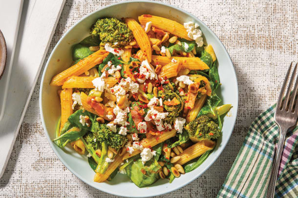 Quick Dinner Ideas - Red Pesto & Bacon Penne