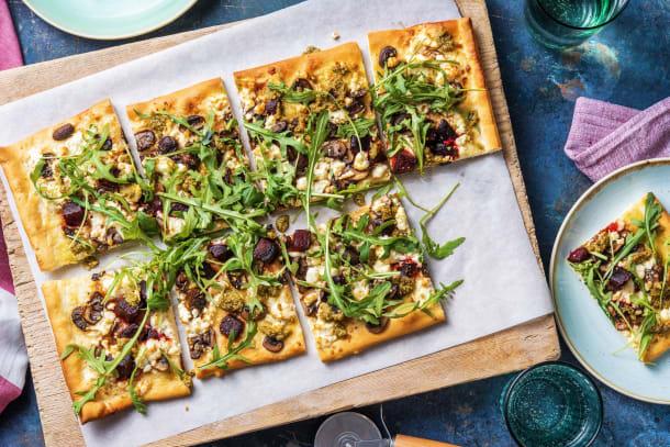 Snabba Middagstips - Rödbets- och svamppizza