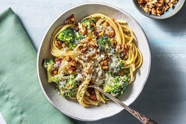 Snelle gerechten - Romige linguine met champignons