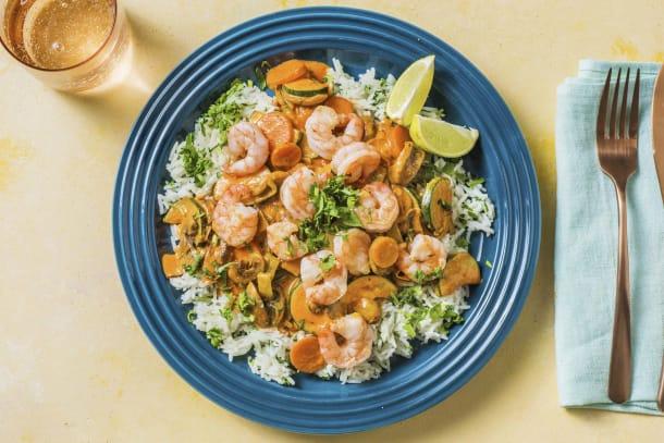 Schnelle Gerichte - Rotes Thai-Curry mit Garnelen